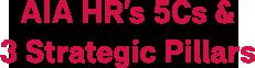 AIA HR's 5Cs & 3 Strategic Pillars