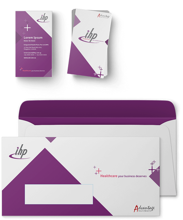 brand design and visual identity for IHP Singapore