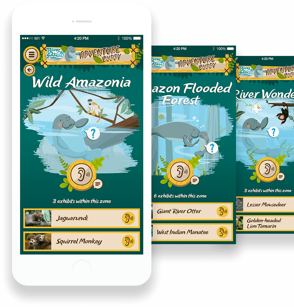 Scriptwriting, brand storytelling, and content creation for river safari singapore mobile app
