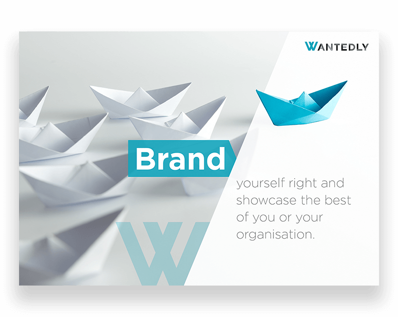 brand advertising poster for Wantedly Singapore, a social talent recruitment agency