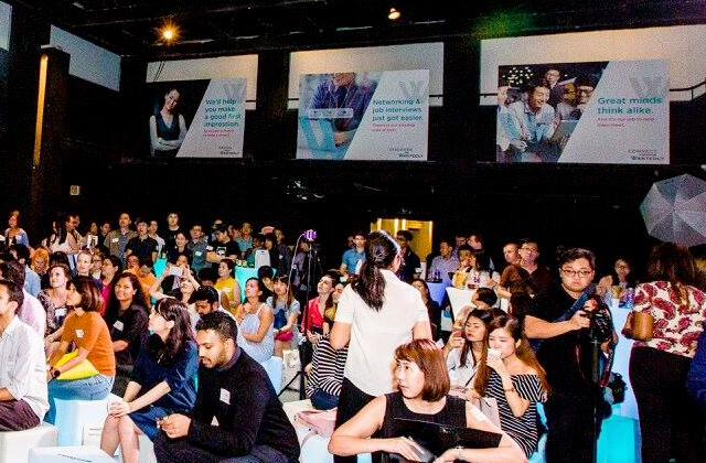 targeted brand communications placed at Wantedly Singapore's brand launch event